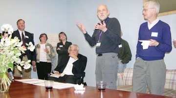 David Osterberg speaks at IPP's Open House