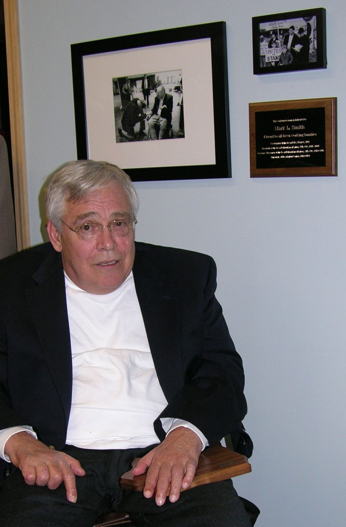 Mark Smith at the dedication of the IPP conference room in his honor, May 2009.